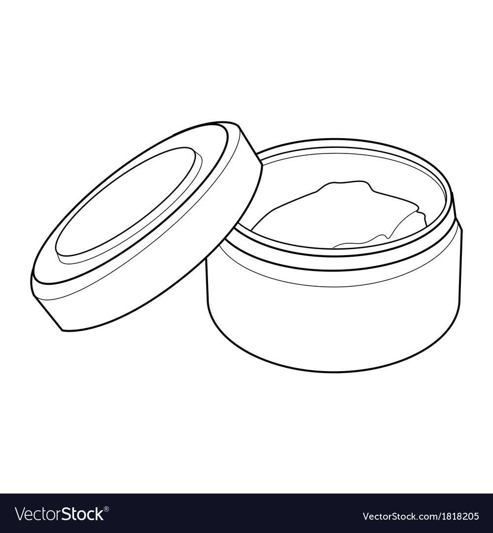 Cream containers out line vector | Price: 1 Credit (USD $1)