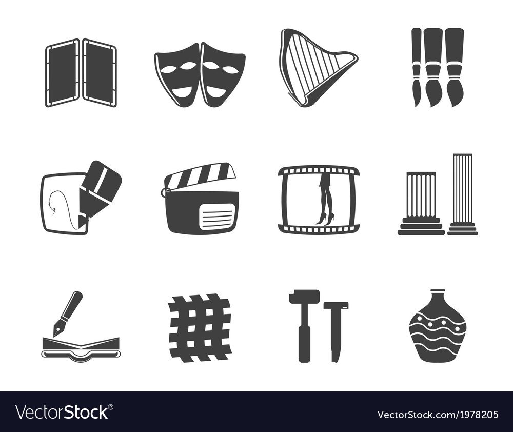 Different kind of arts icons vector | Price: 1 Credit (USD $1)