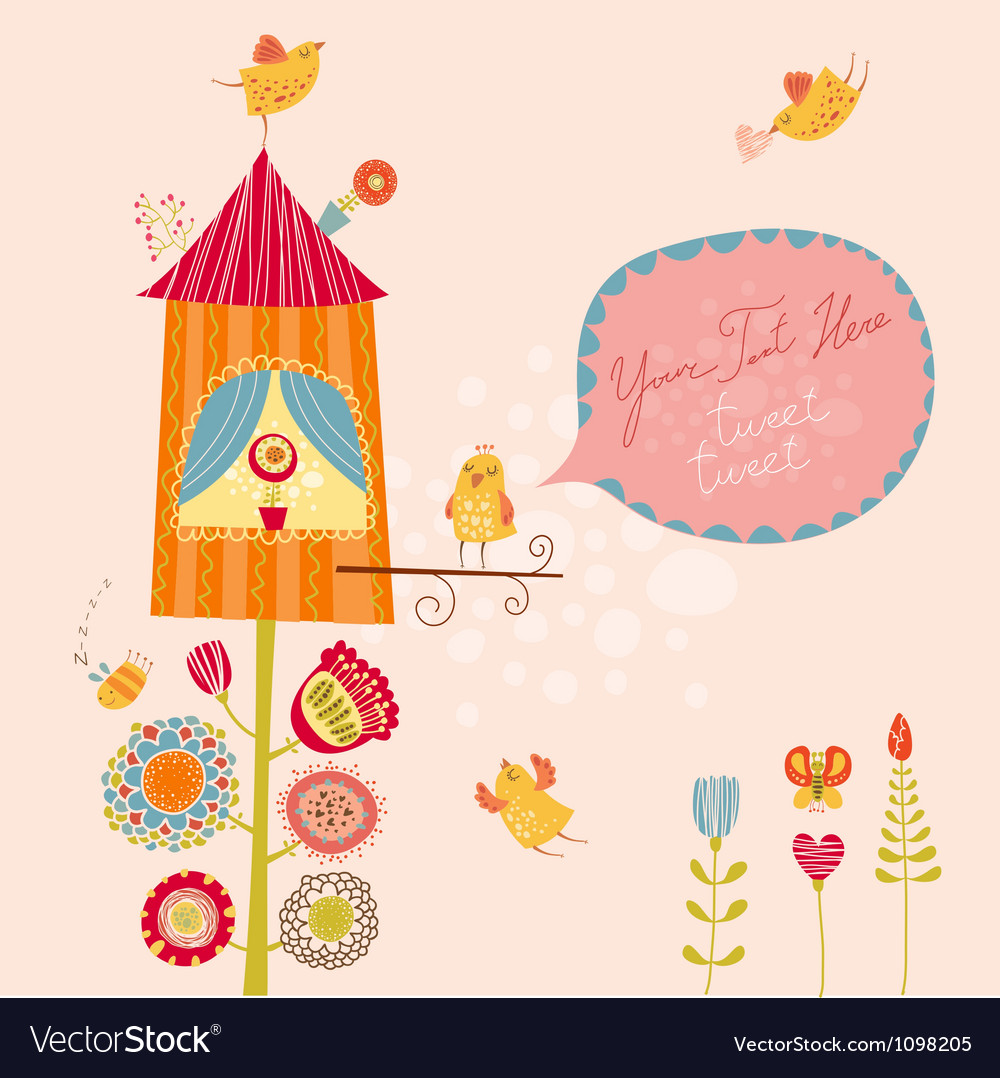 Funny bird nest vector | Price: 1 Credit (USD $1)