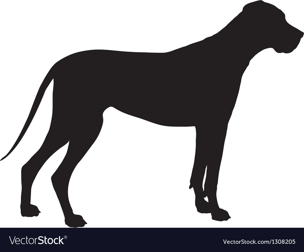 Great dane silhouette vector | Price: 1 Credit (USD $1)