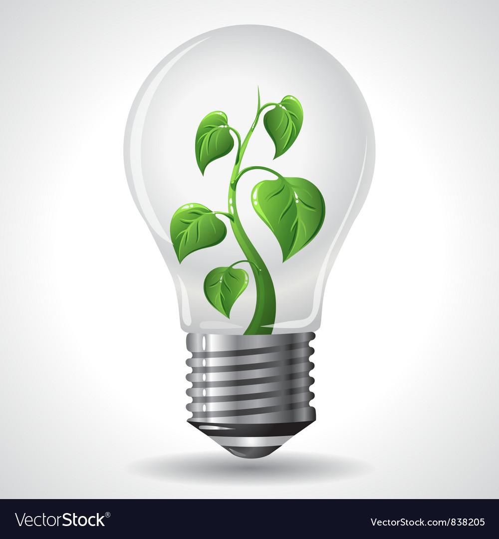 Green energy concept - power saving light bulbs vector | Price: 3 Credit (USD $3)