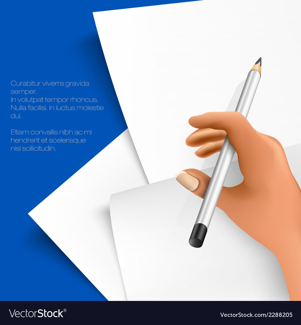 Pencil and notepad vector | Price: 1 Credit (USD $1)
