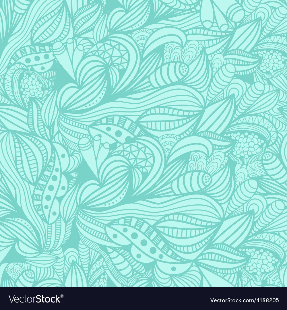 Seamless pattern with abstract blue floral vector | Price: 1 Credit (USD $1)