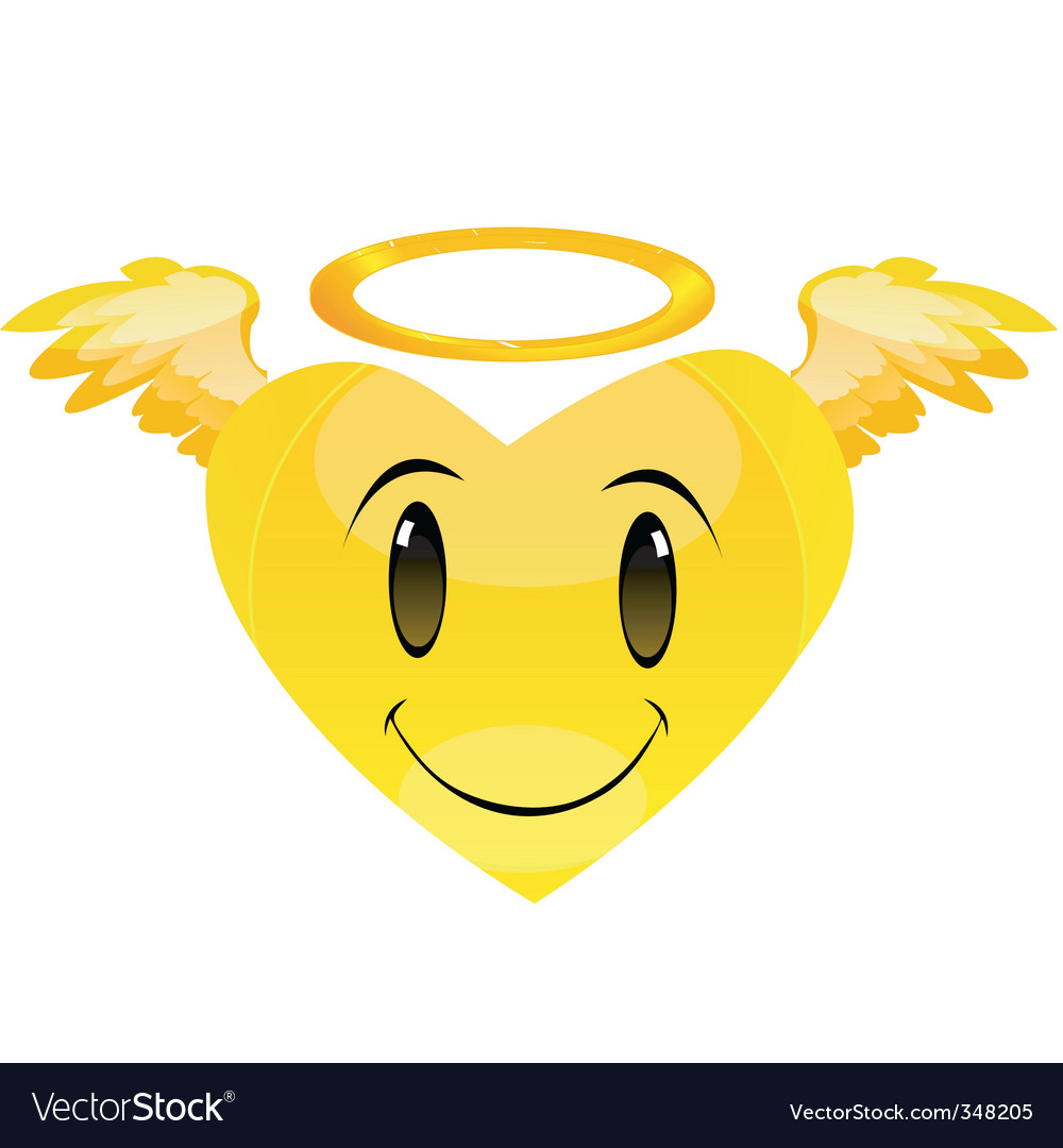 Smiley angel heart vector | Price: 1 Credit (USD $1)