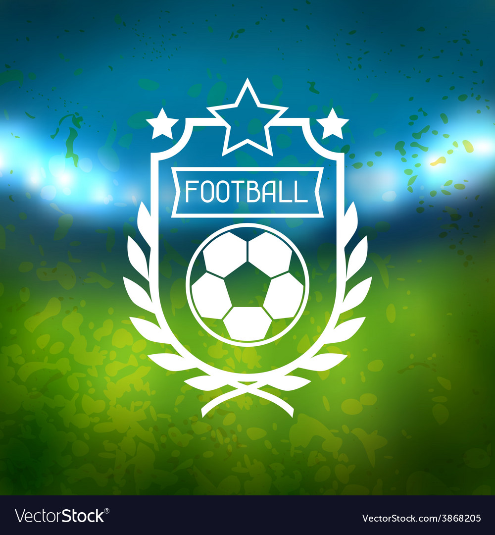 Sports label with football symbols vector   Price: 1 Credit (USD $1)