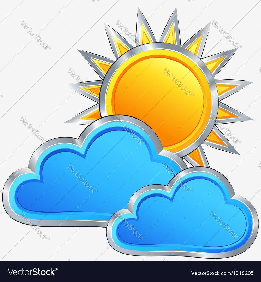 Weather icon with a sunny weather vector   Price: 1 Credit (USD $1)