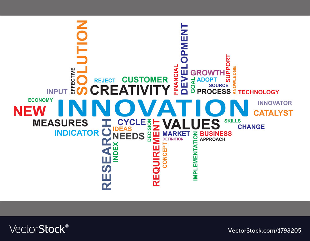 Word cloud innovation vector | Price: 1 Credit (USD $1)