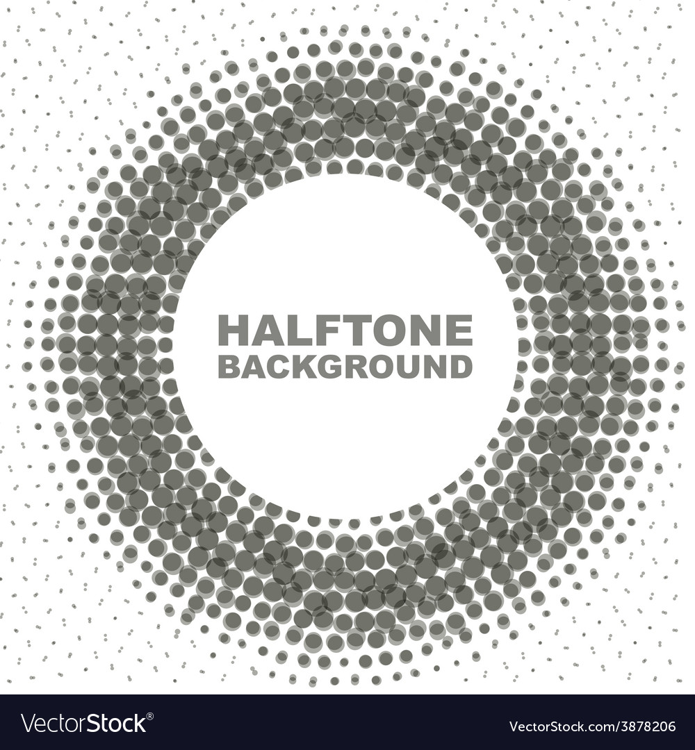 Abstract black-and-white halftone circle vector | Price: 1 Credit (USD $1)