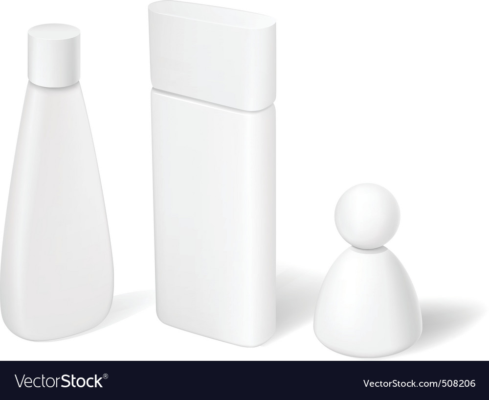 Blank cosmetic tubes bottles and containers vector | Price: 1 Credit (USD $1)