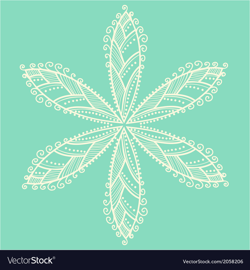 Cute ornamental flower vector | Price: 1 Credit (USD $1)