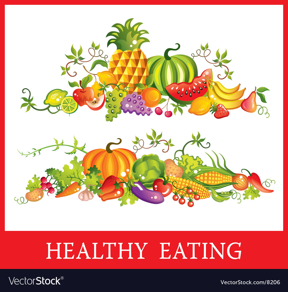 Fruit and vegetables vector | Price: 3 Credit (USD $3)