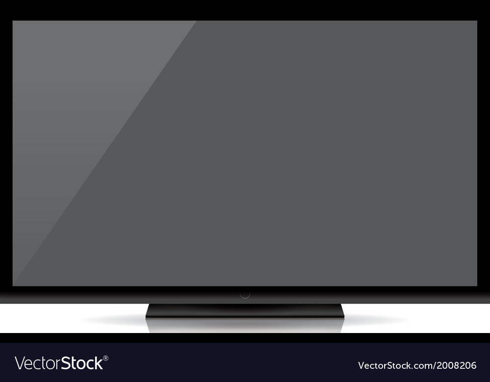 Modern blank flat screen tv isolated on white back vector   Price: 1 Credit (USD $1)