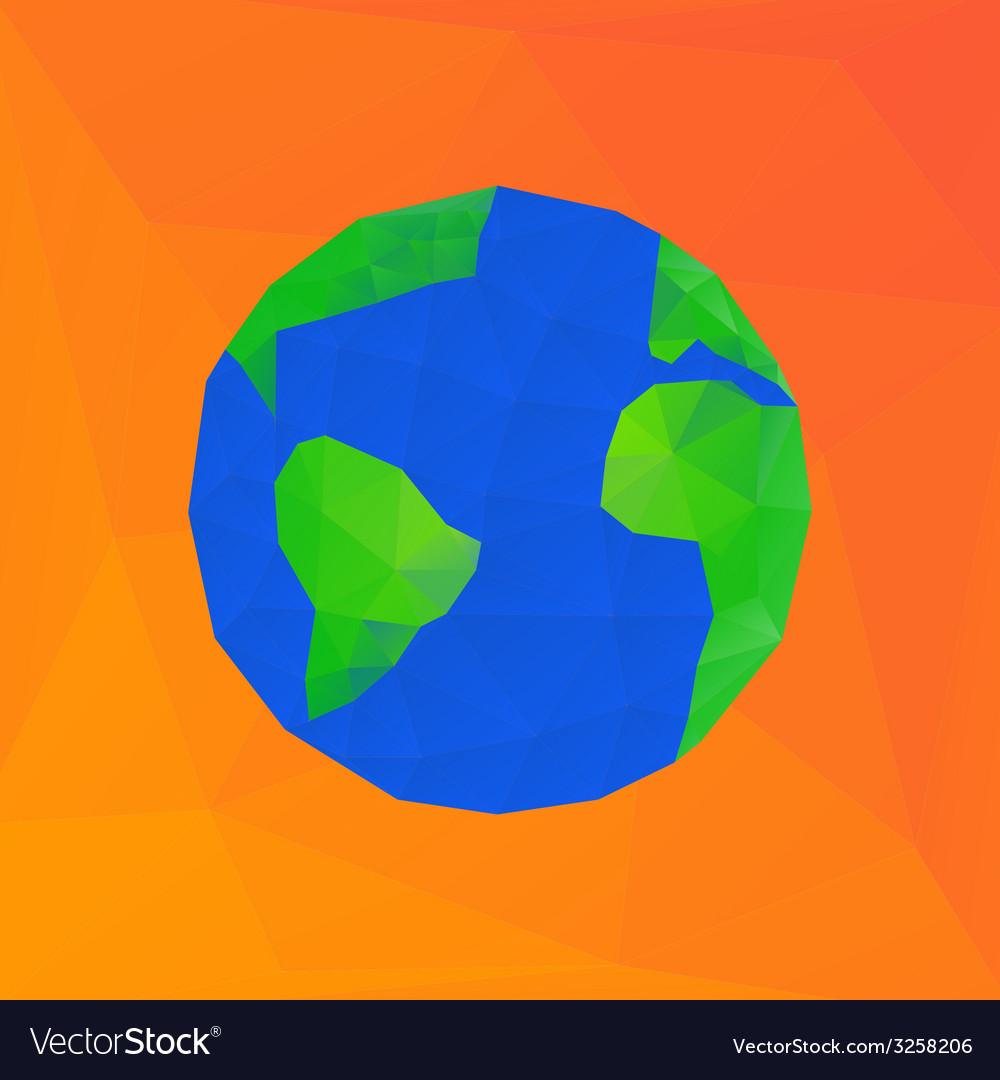 Polygonal earth planet - vector | Price: 1 Credit (USD $1)
