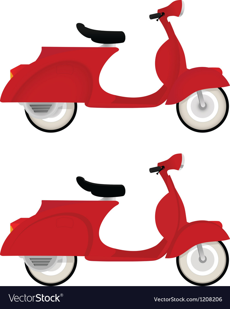 Red vintage motor bike vector | Price: 1 Credit (USD $1)