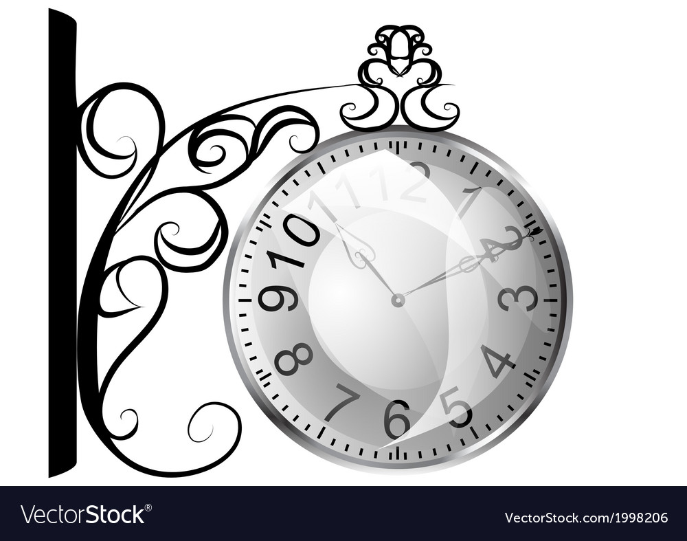 Station clock vector | Price: 1 Credit (USD $1)
