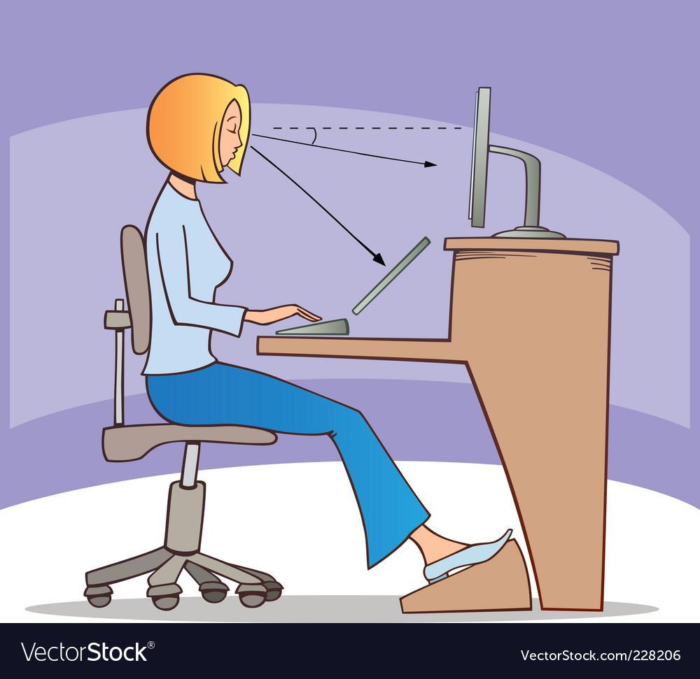 Work on computer vector | Price: 3 Credit (USD $3)
