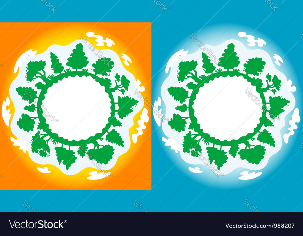 Clean and pollution on earth vector | Price: 3 Credit (USD $3)