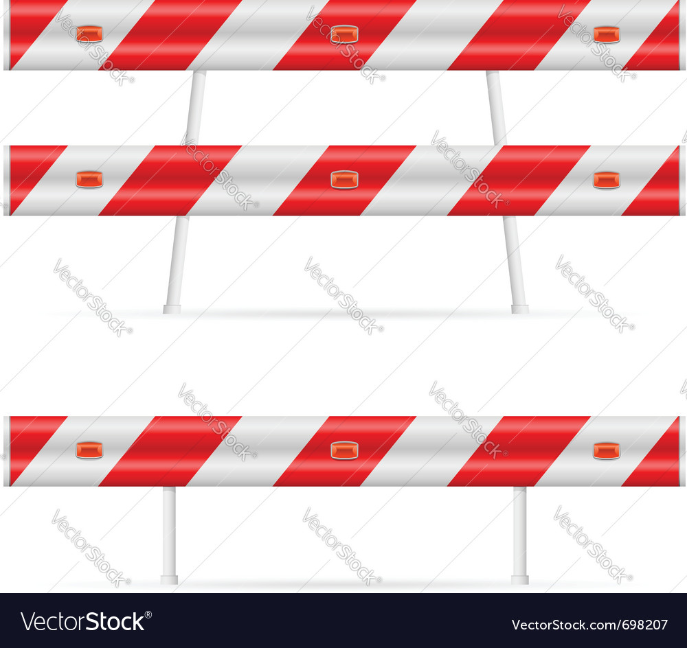 Construction barricade vector | Price: 1 Credit (USD $1)