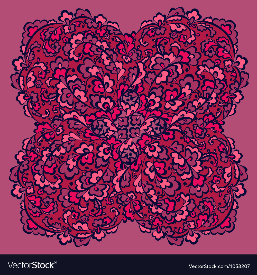 Decorative difficult flowers element vector | Price: 1 Credit (USD $1)