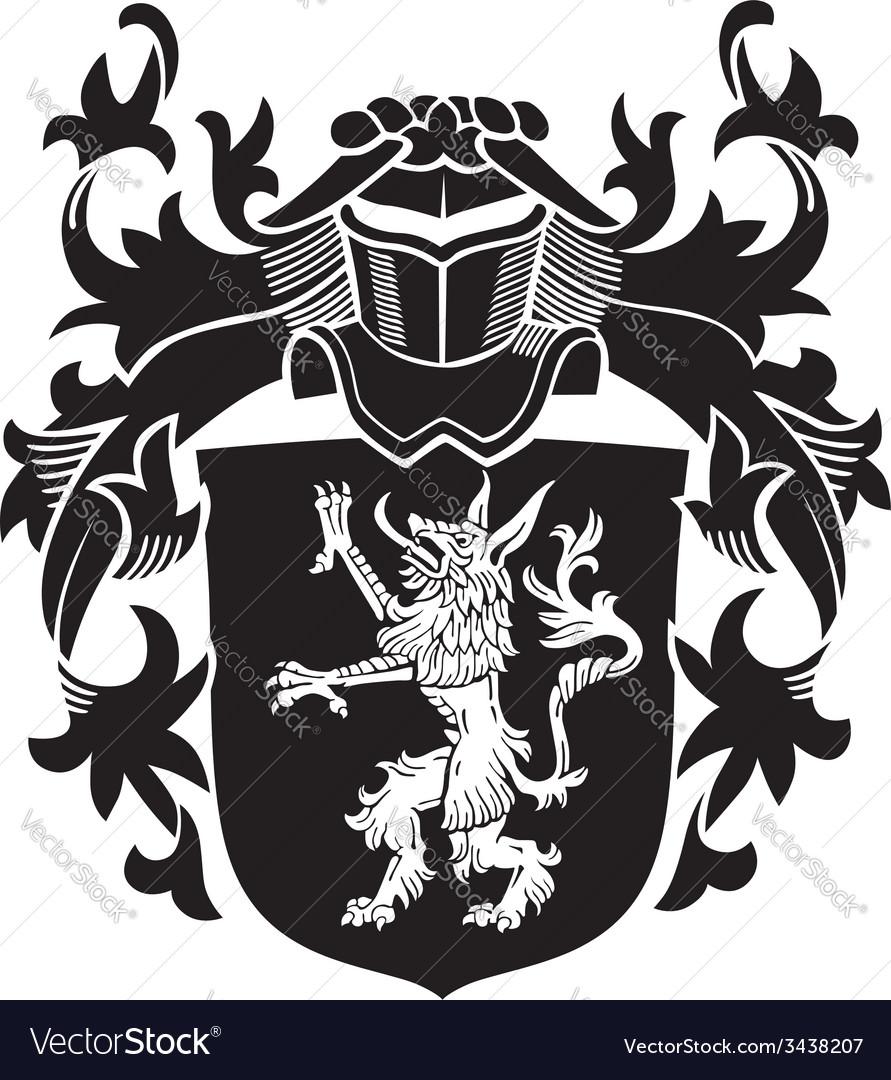 Heraldic silhouette no20 vector | Price: 1 Credit (USD $1)