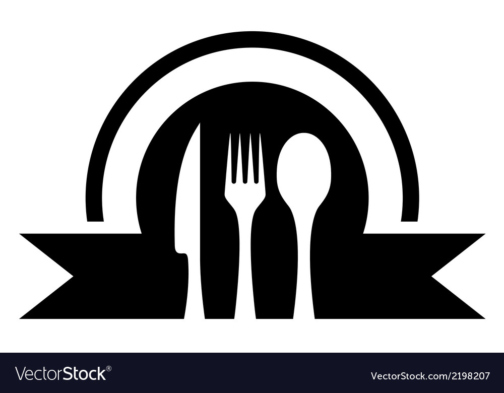 Kitchen icon with utensil vector | Price: 1 Credit (USD $1)