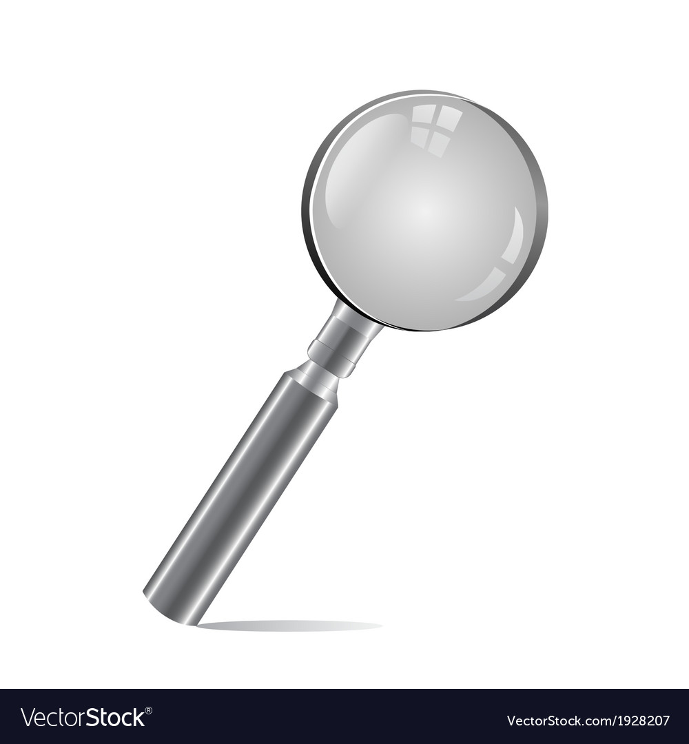 Magnifying glass isolated on white background vector | Price: 1 Credit (USD $1)