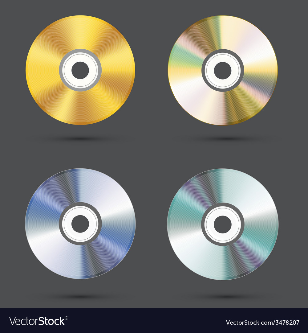 Modern cd icons set vector | Price: 1 Credit (USD $1)