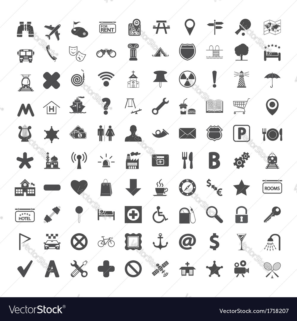 Navigation map icons vector | Price: 1 Credit (USD $1)