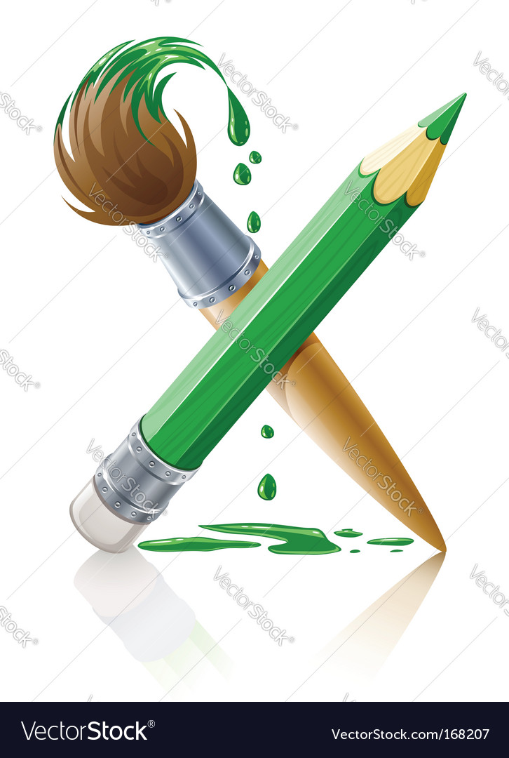 Paint brush vector | Price: 5 Credit (USD $5)