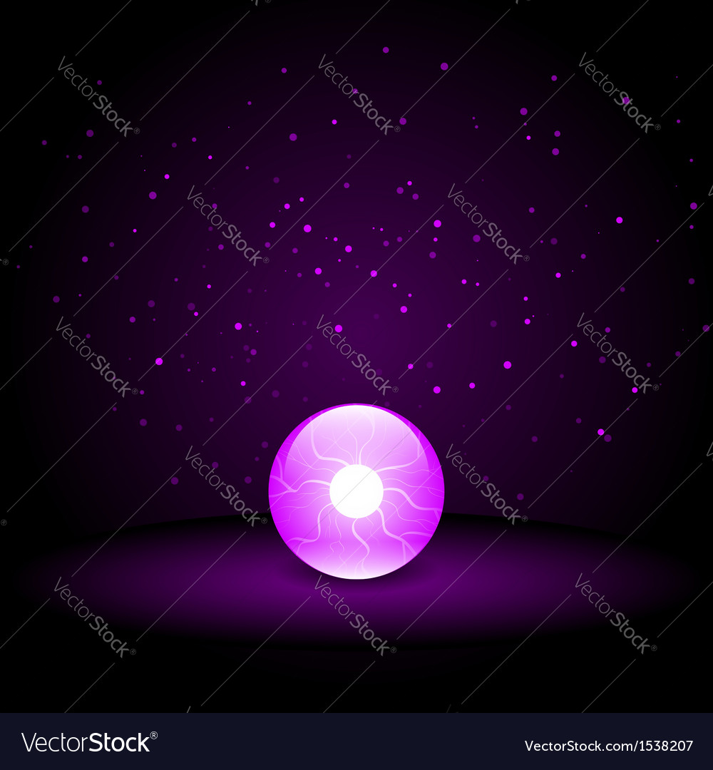 Purple crystal ball vector | Price: 1 Credit (USD $1)