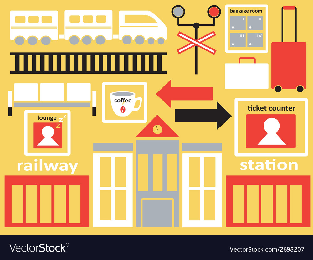Railway station vector | Price: 1 Credit (USD $1)