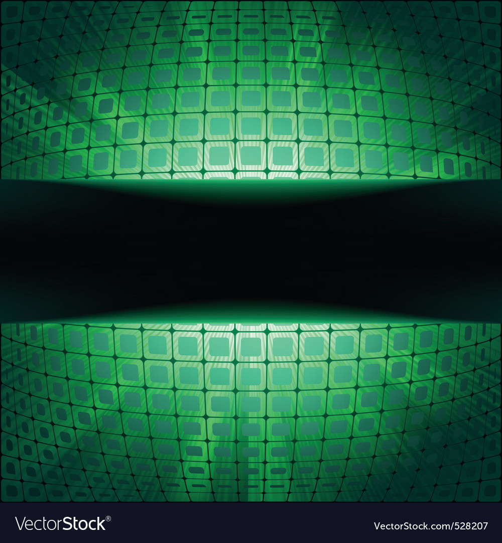 Sphere with green illumination vector | Price: 1 Credit (USD $1)