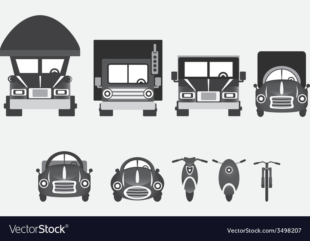 Vehicles of various types vector | Price: 1 Credit (USD $1)
