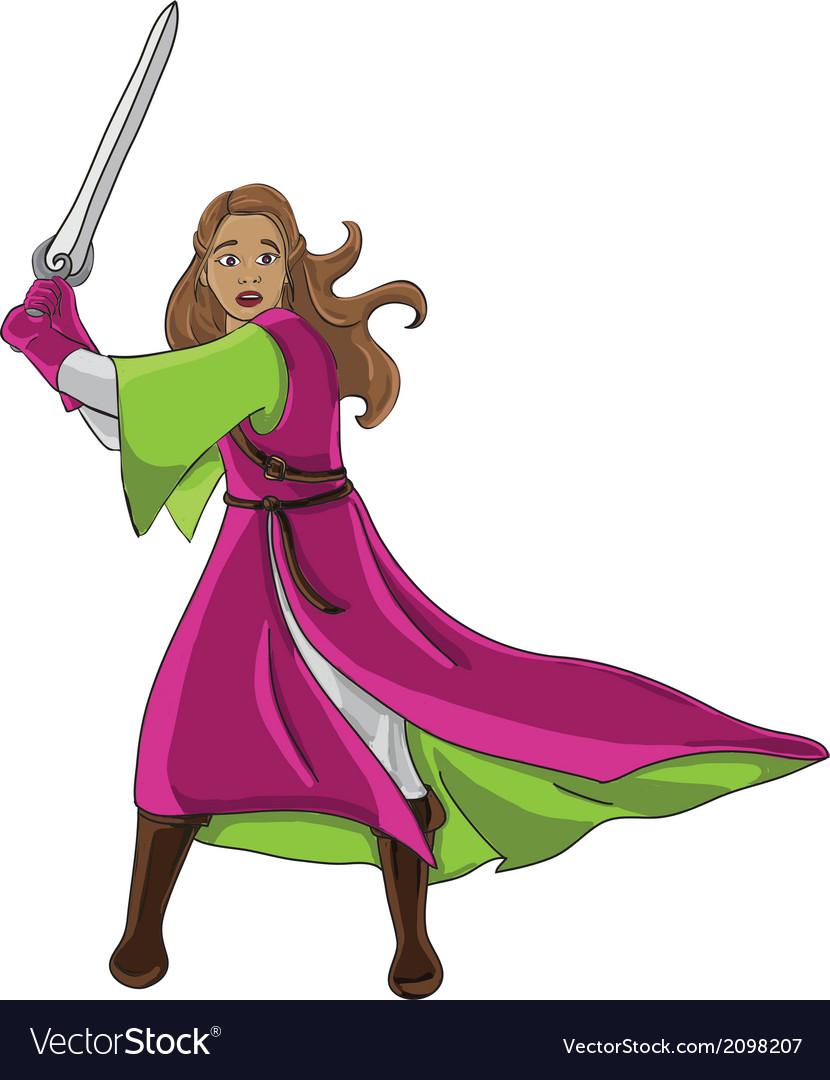 Warrior girl vector | Price: 1 Credit (USD $1)