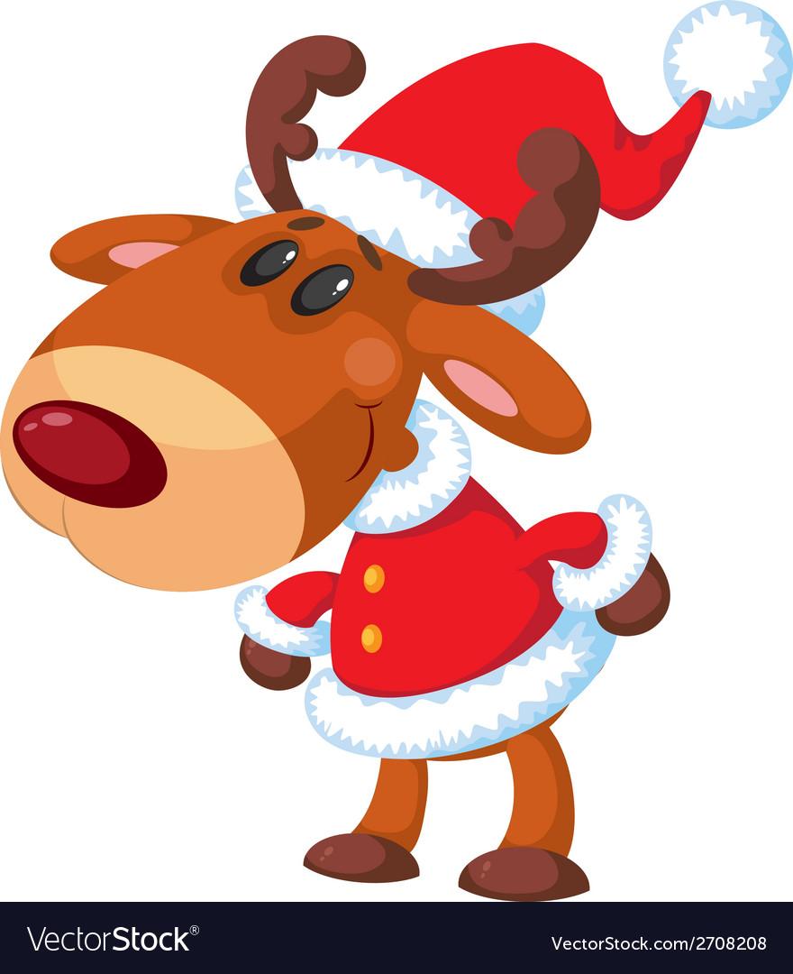 Deer santa funny vector   Price: 3 Credit (USD $3)