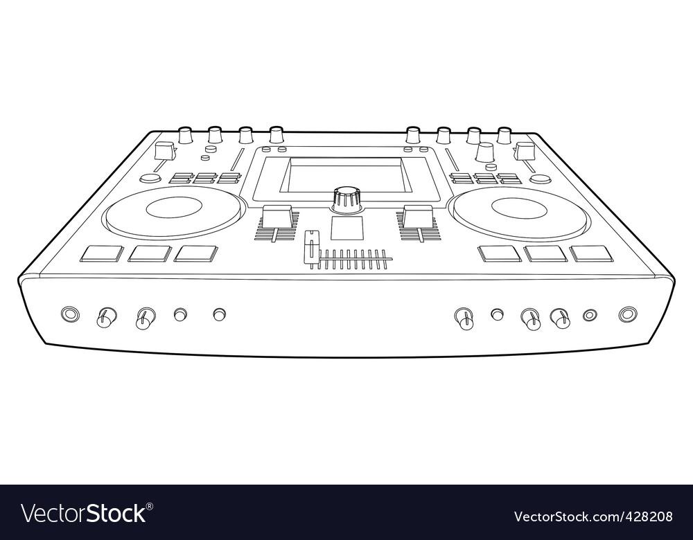 Dj mixer vector | Price: 1 Credit (USD $1)