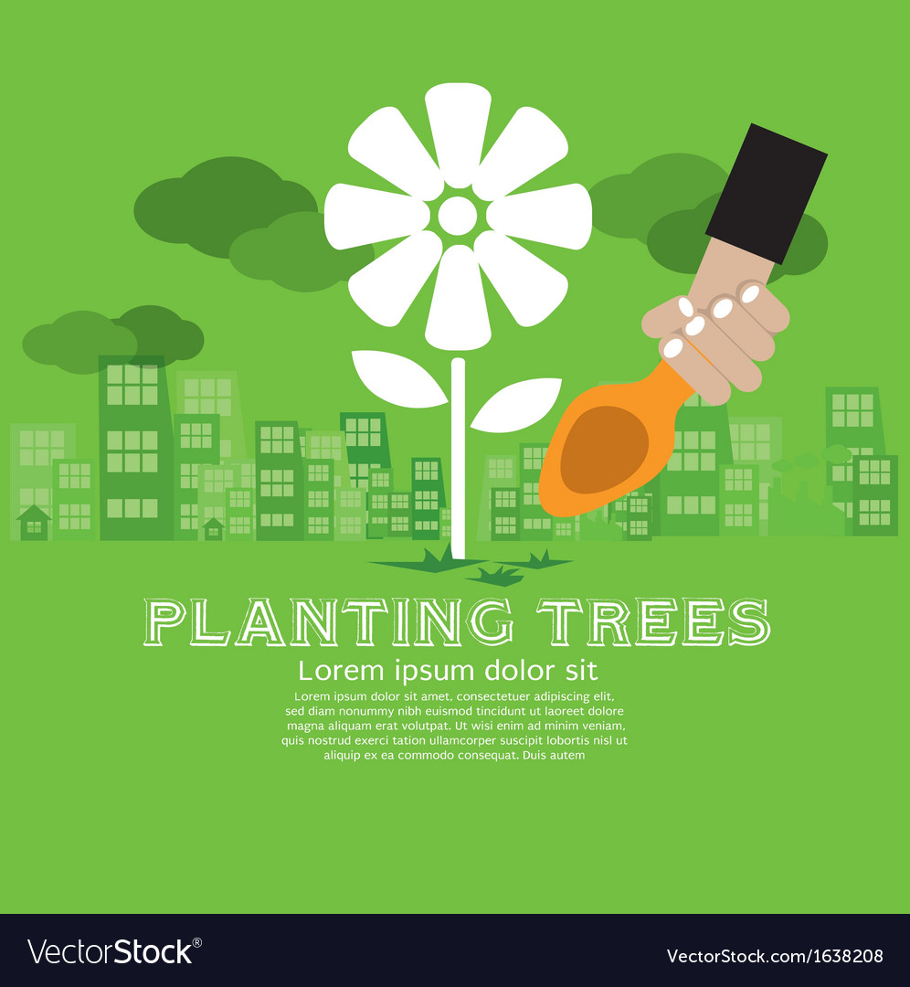 Planting trees vector | Price: 1 Credit (USD $1)
