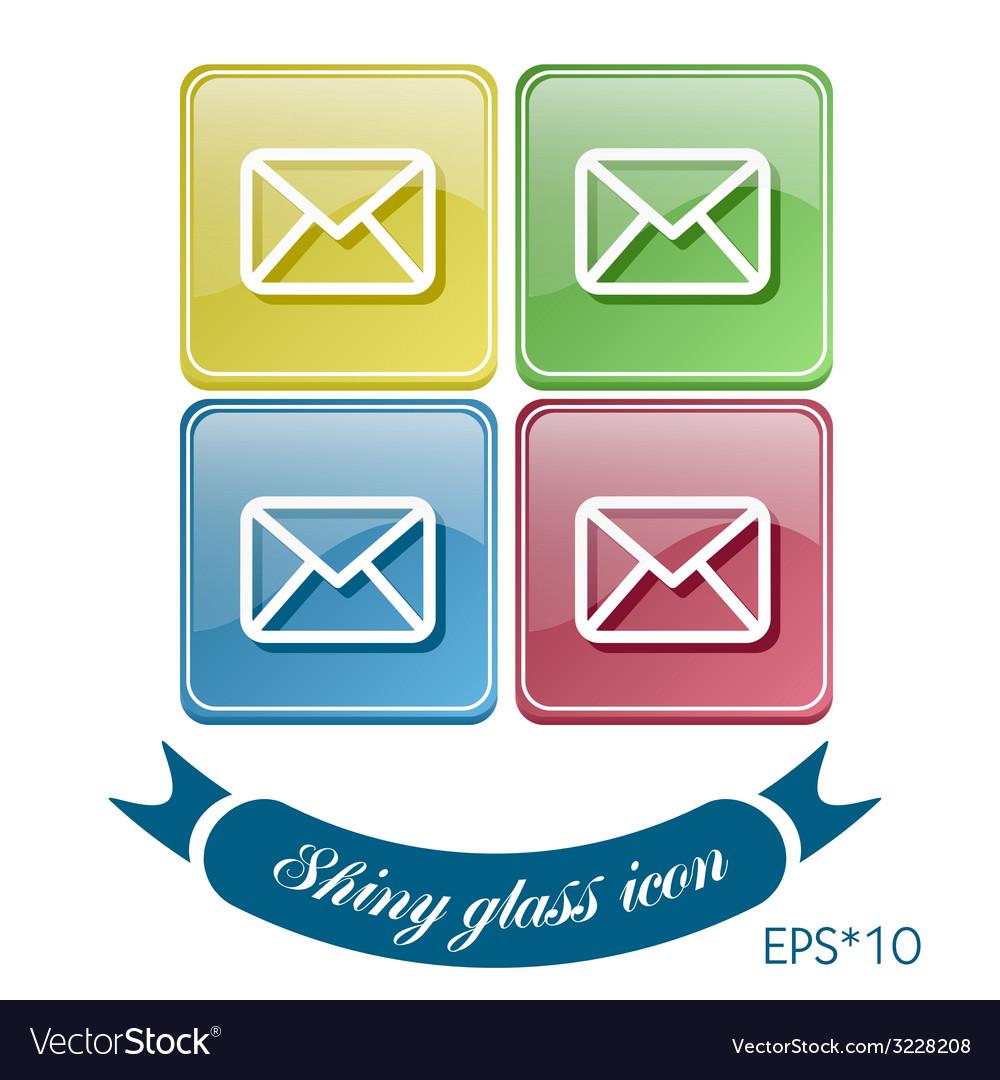 Postal envelope e-mail symbol icon envelope vector | Price: 1 Credit (USD $1)