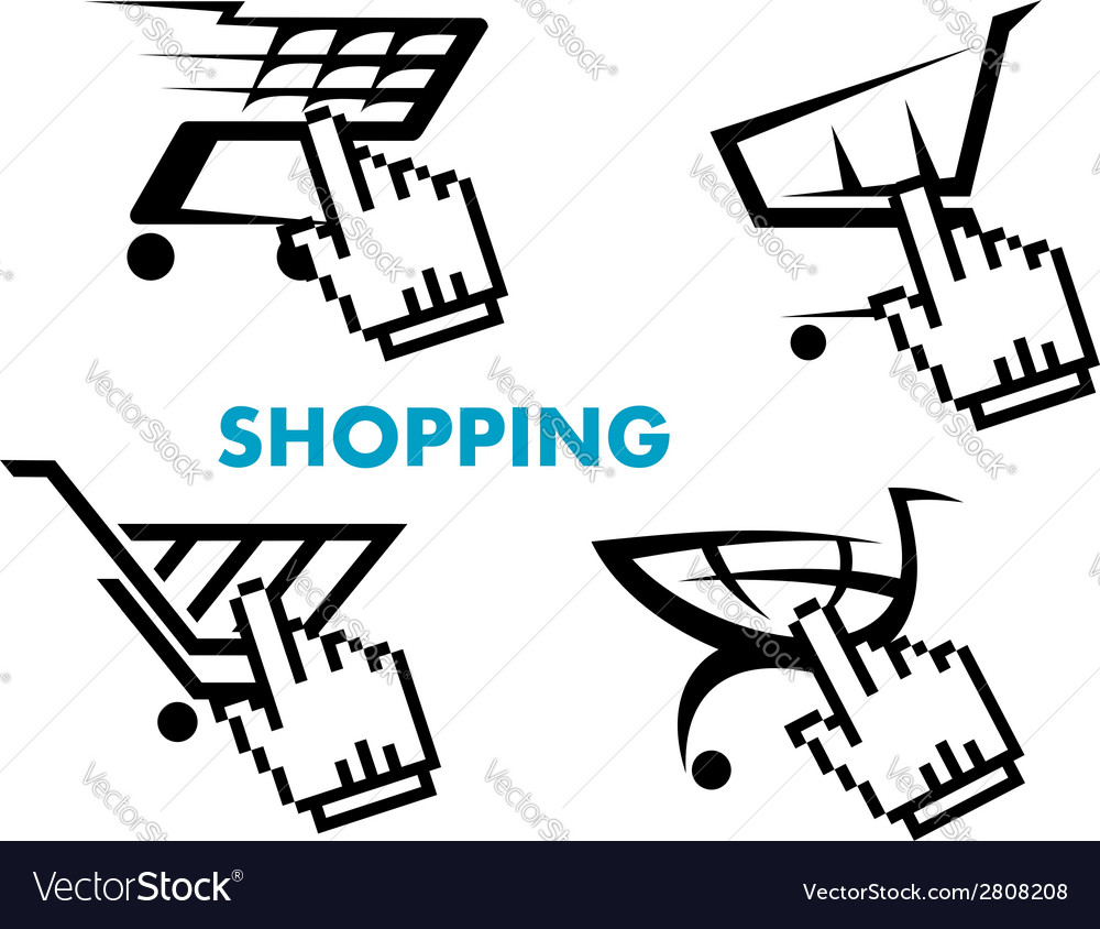 Shopping cart and retail business icons set vector | Price: 1 Credit (USD $1)