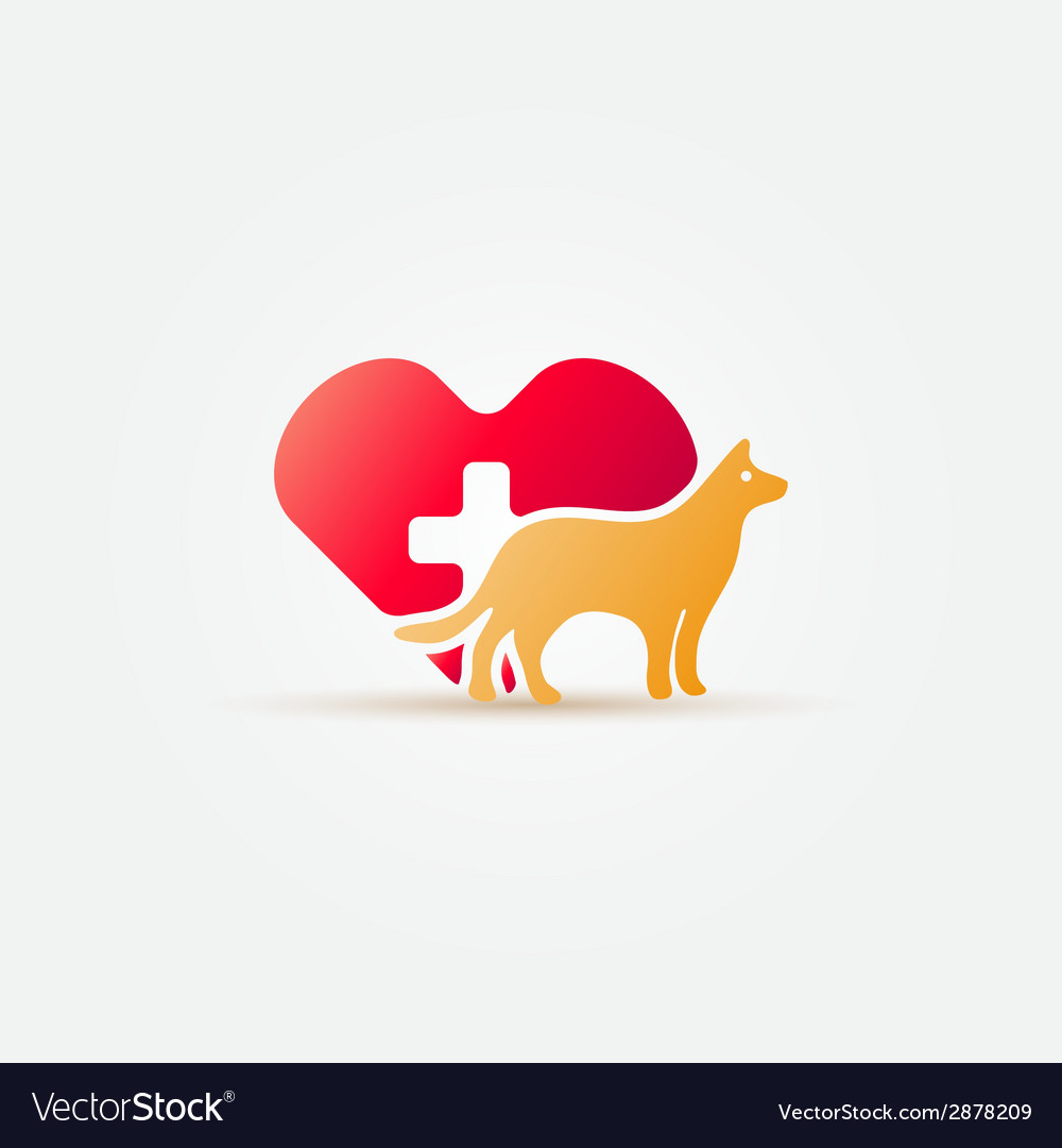 Bright dog vet icon vector | Price: 1 Credit (USD $1)