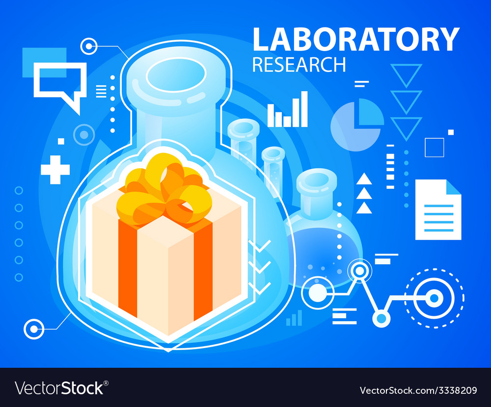 Bright laboratory research and gift box with vector | Price: 3 Credit (USD $3)