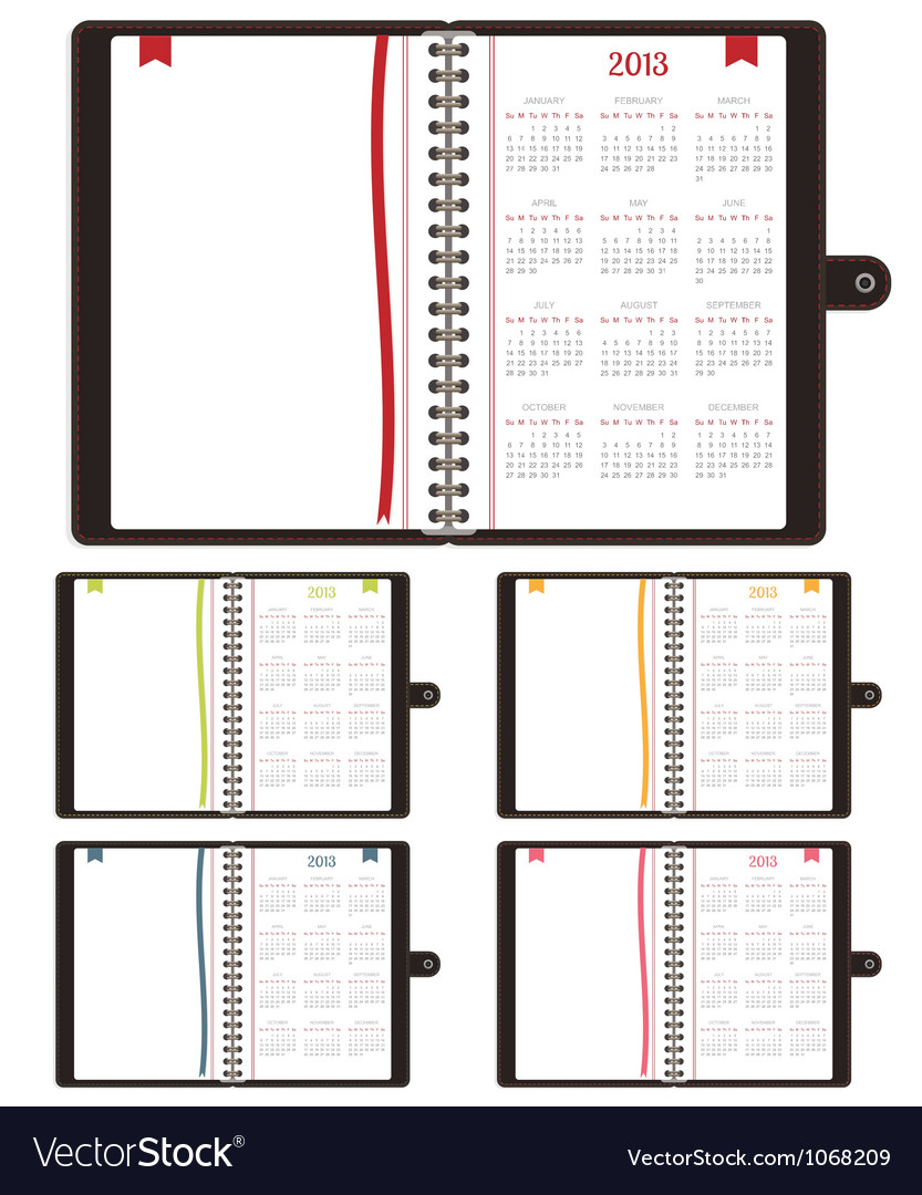 Calender notebooks 2013 vector | Price: 1 Credit (USD $1)