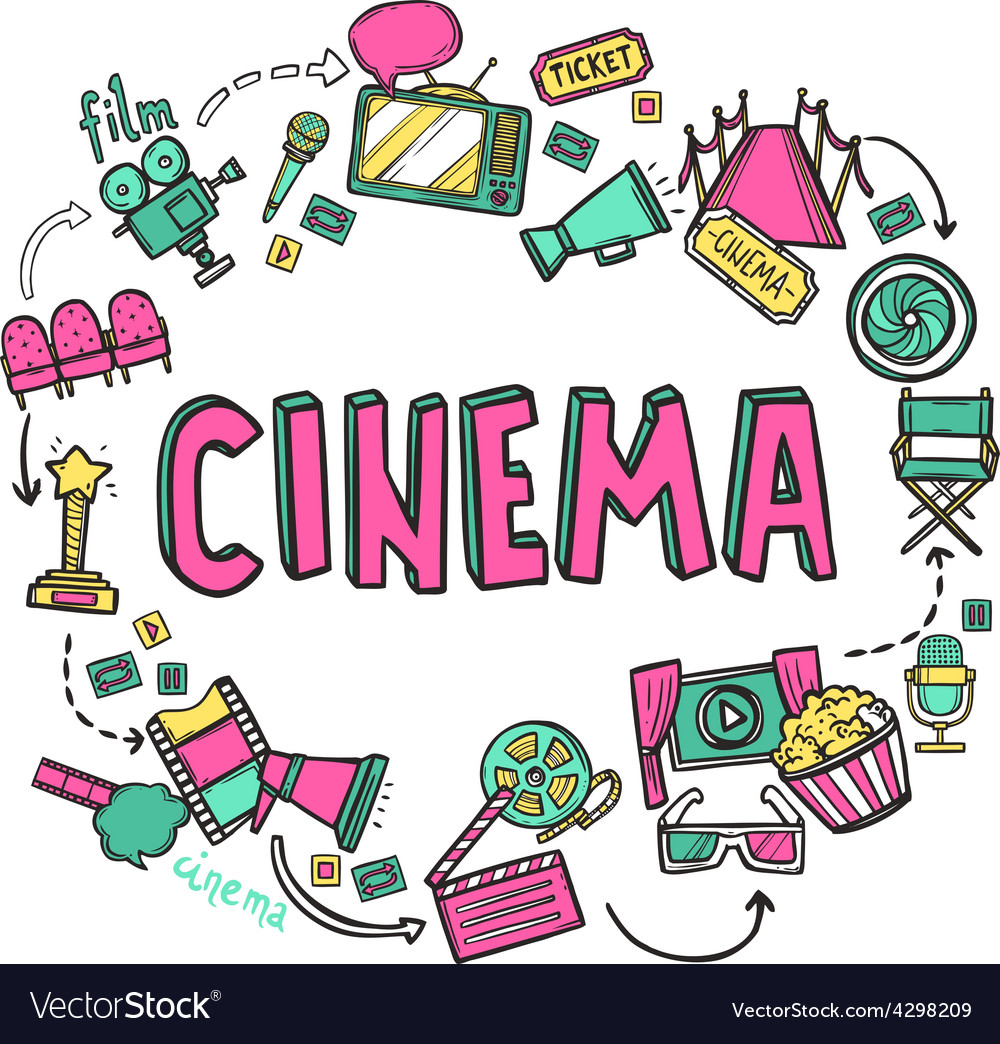 Cinema design concept vector | Price: 1 Credit (USD $1)
