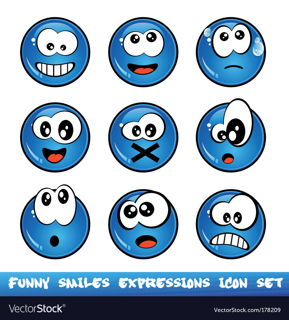Comic expressions vector | Price: 3 Credit (USD $3)