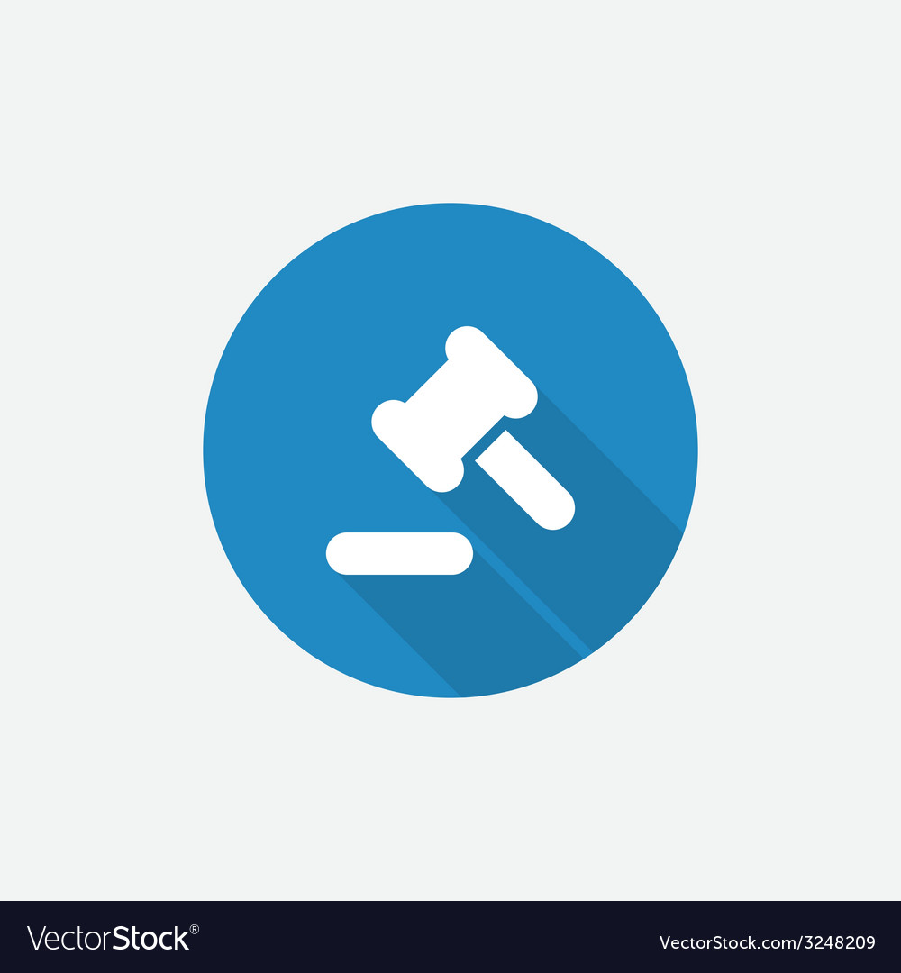 Court law flat blue simple icon with long shadow vector | Price: 1 Credit (USD $1)