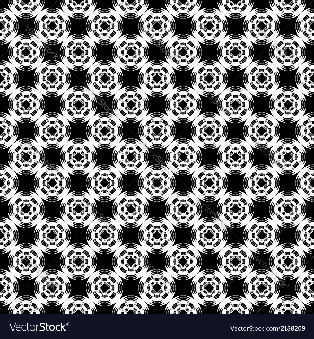 Design seamless monochrome grid geometric pattern vector | Price: 1 Credit (USD $1)