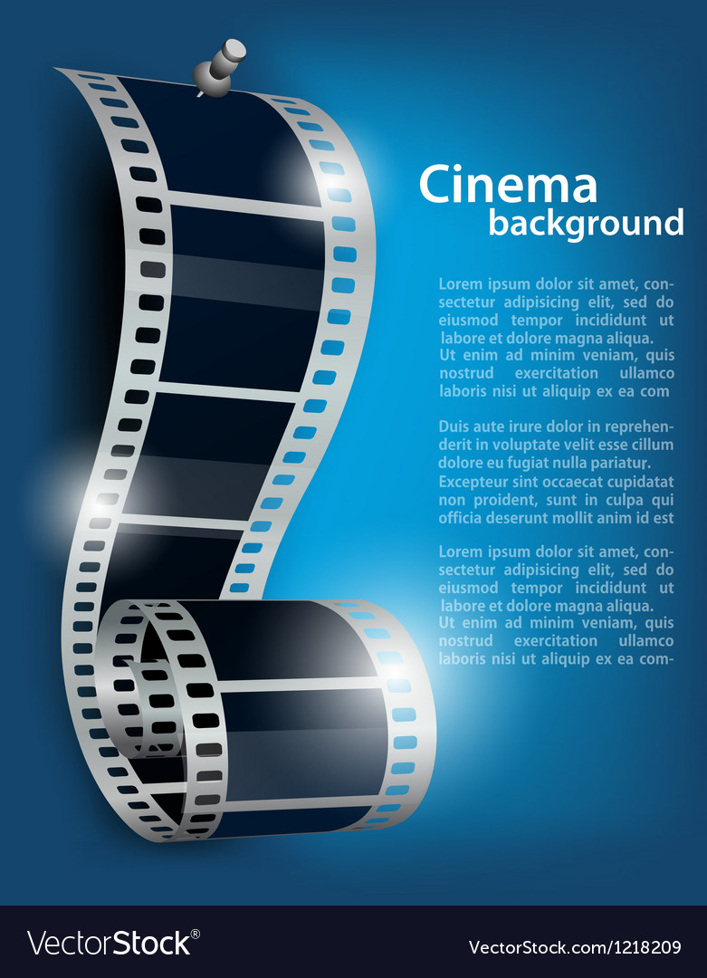 Film reel on blue background vector | Price: 3 Credit (USD $3)
