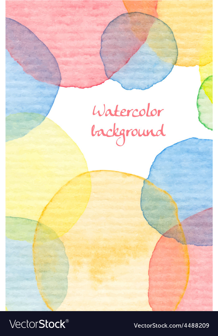 Hand painted watercolor background vector | Price: 1 Credit (USD $1)