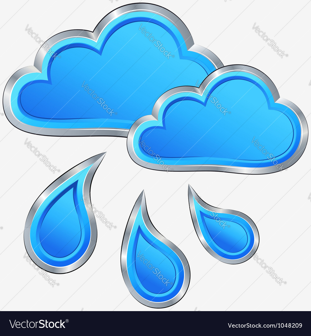 Icon of rainy weather vector | Price: 1 Credit (USD $1)