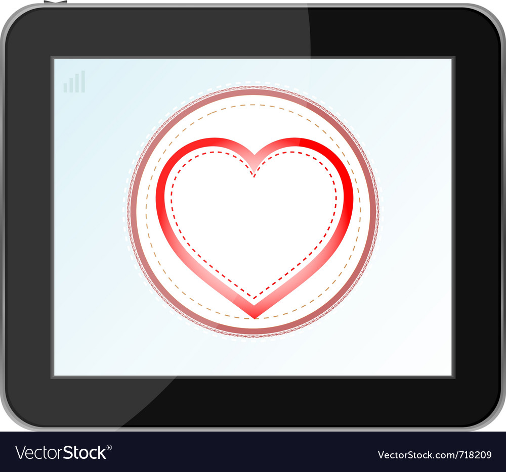 Love heart icon vector | Price: 1 Credit (USD $1)